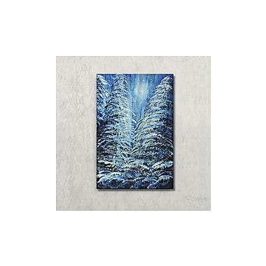 All My Walls 'Tims Winter Forest' by Holly Carmichael Painting Print Plaque