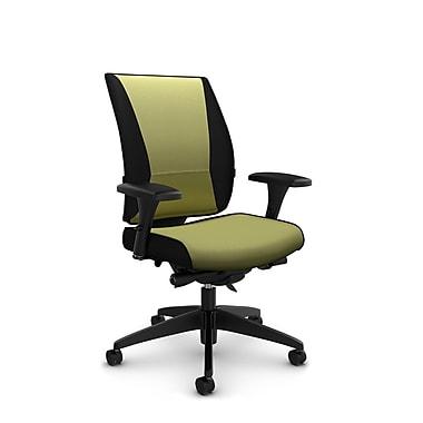 Takori High Back Synchro Knee Tilter, 'Imprint - Celery' Fabric, Green