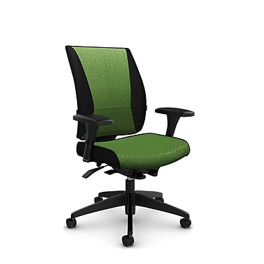 Takori – Fauteuil à inclinaison synchronisée à détection du poids à dossier haut, tissu Match vert, vert
