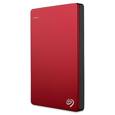 SeagateMD – Disque dur portatif Backup Plus de 2 To, rouge