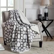 VCNY Chantal Jacquard Polyester Throw; Grey
