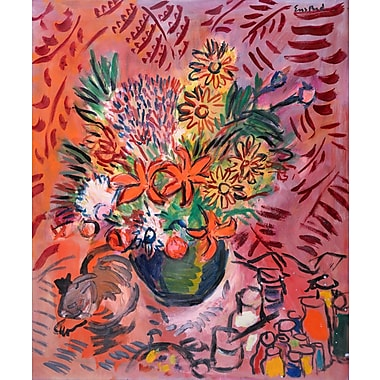 Marmont Hill 'Kitty And Bouquet' by Wayne Ensrud Painting Print on Wrapped Canvas; 36'' H x 30'' W