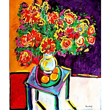 Marmont Hill 'Bouquet Rouge' by Wayne Ensrud Painting Print on Wrapped Canvas; 29'' H x 24'' W