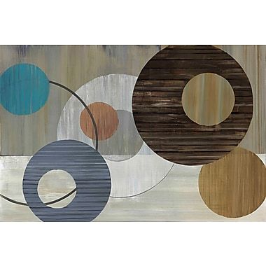 Marmont Hill 'Cosmic Orbit Ii' by Julie Joy Painting Print on Wrapped Canvas; 12'' H x 18'' W
