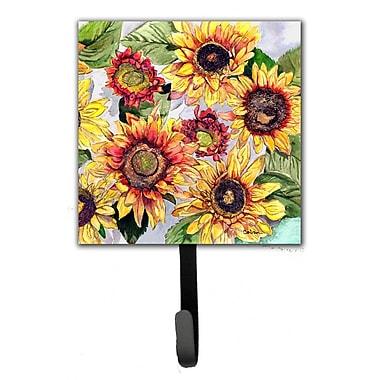 Caroline's Treasures Sunflower Flower Leash Holder and Wall Hook