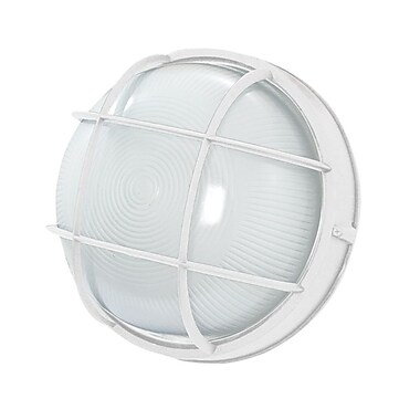 EfficientLighting 1-Light Outdoor Bulkhead Light; White