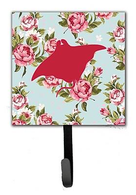 Caroline's Treasures Manta Ray Shabby Elegance Roses Leash Holder and Wall Hook WYF078278149768