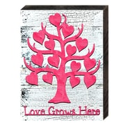 Designocracy Love and Relations Valentine Family Tree w/ Quote Textual Art