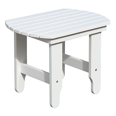 Douglas Nance Adirondack White End Table