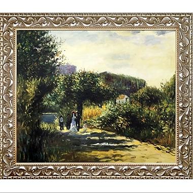 La Pastiche A Road in Louveciennes, 1870 by Pierre-Auguste Renoir Framed Painting Print