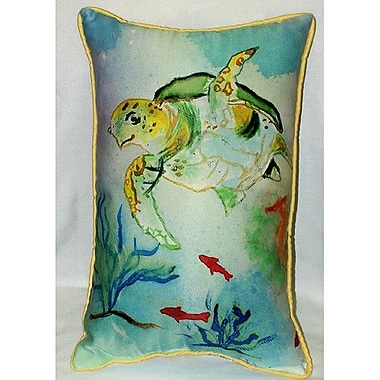 Betsy Drake Interiors Sea Turtle Indoor/Outdoor Pillow