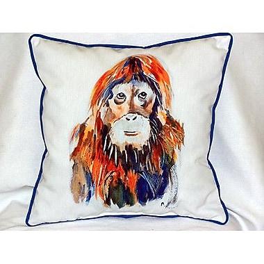 Betsy Drake Interiors Orangutan Indoor/Outdoor Throw Pillow