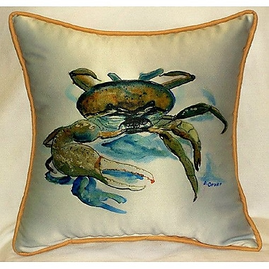 Betsy Drake Interiors Fiddler Crab Indoor/Outdoor Throw Pillow