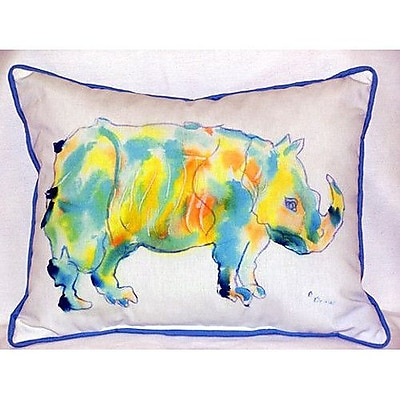 Betsy Drake Interiors Rhino Indoor/Outdoor Lumbar Pillow