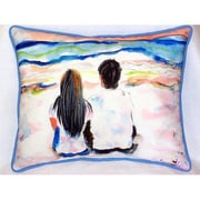 Betsy Drake Interiors Drake and Noland Indoor/Outdoor Lumbar Pillow