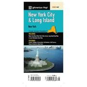 Universal Map New York City and Long Island Fold Map
