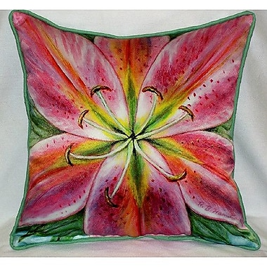Betsy Drake Interiors Pink Lily Indoor/Outdoor Throw Pillow