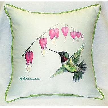 Betsy Drake Interiors Hummingbird Indoor/Outdoor Throw Pillow