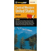 Universal Map United States Regional Central and Western Fold Map