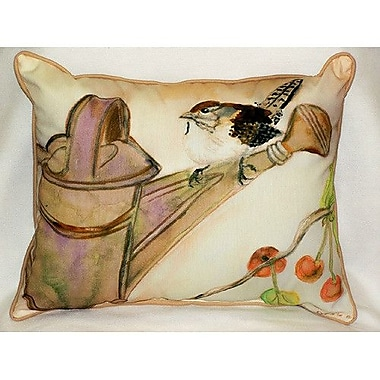 Betsy Drake Interiors Carolina Wren Indoor/Outdoor Lumbar Pillow