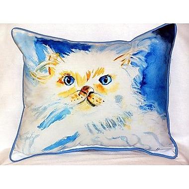 Betsy Drake Interiors Junior the Cat Indoor/Outdoor Lumbar Pillow