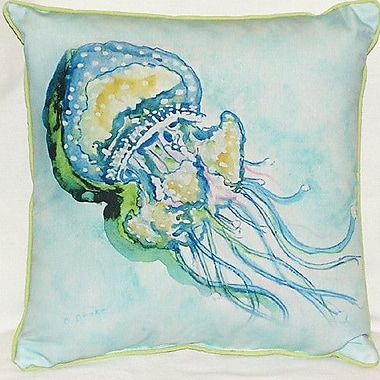 Betsy Drake Interiors Jelly Fish Indoor/Outdoor Throw Pillow