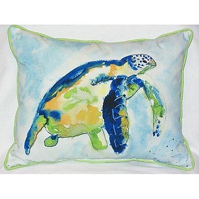 Betsy Drake Interiors Sea Turtle Indoor/Outdoor Lumbar Pillow