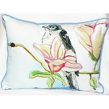 Betsy Drake Interiors Mockingbird Indoor/Outdoor Lumbar Pillow