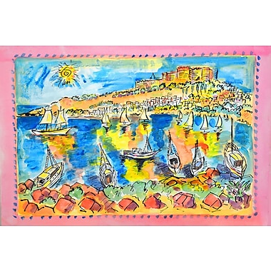 Marmont Hill 'Rhodes Greece' by Wayne Ensrud Painting Print on Wrapped Canvas; 24'' H x 36'' W
