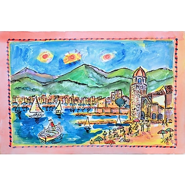 Marmont Hill 'Collioure France' by Wayne Ensrud Painting Print on Wrapped Canvas; 16'' H x 24'' W