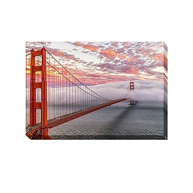 Artistic Home Gallery Evening Commute by Dave Gordon Photographic Print on Wrapped Canvas