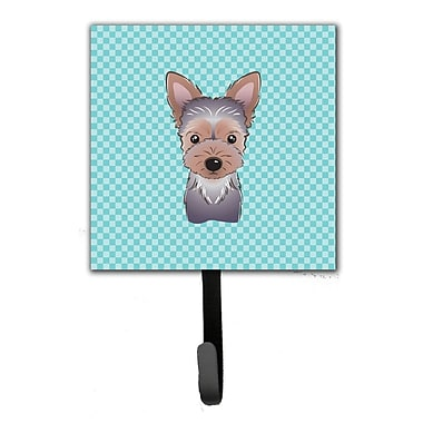 Caroline's Treasures Checkerboard Yorkie Puppy Leash Holder and Wall Hook
