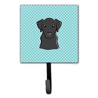 Caroline's Treasures Checkerboard Labrador Leash Holder and Wall Hook