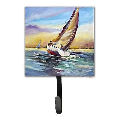 Caroline's Treasures Horn Island Boat Race Sailboats Leash Holder and Wall Hook