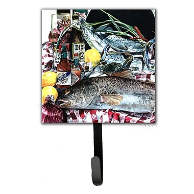Caroline's Treasures Fish and Beers From New Orleans Leash Holder and Wall Hook