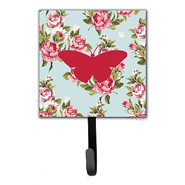 Caroline's Treasures Butterfly Shabby Elegance Roses Leash Holder and Wall Hook