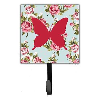 Caroline's Treasures Butterfly Shabby Elegance Roses Leash Holder and Wall Hook