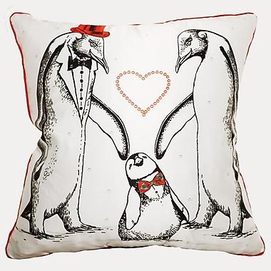 Filos Design Happy Penguin Throw Pillow