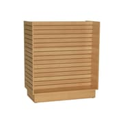 "Can-Bramar Econoline Slatwall Merchandiser, 48"" x 24"" x 54"", Maple"