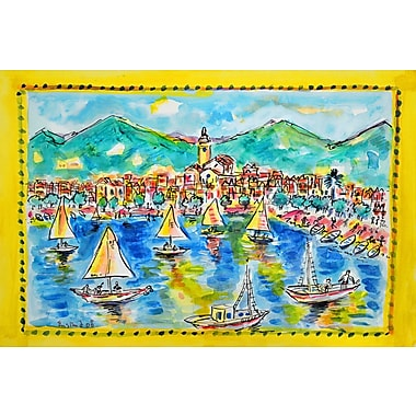 Marmont Hill 'Cadaques Spain' by Wayne Ensrud Painting Print on Wrapped Canvas; 16'' H x 24'' W