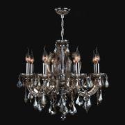 Worldwide Lighting Catherine 8-Light Crystal Chandelier; Golden Teak