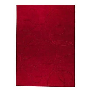 Hokku Designs Medlock Red Area Rug; Rectangle 5'6'' x 7'10''