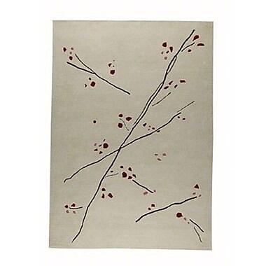 Hokku Designs Inari White/Red Area Rug; Rectangle 6'6'' x 9'9''