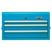 Viper Tool Storage 26''W 3-Drawer Top Chest; Teal