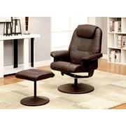 Hokku Designs Klaus Lounge Chair and Ottoman; Brown