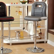 Hokku Designs Adjustable Height Swivel Bar Stool; Gray