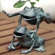 SPI Home Leaping Frogs Flower Holder Statue