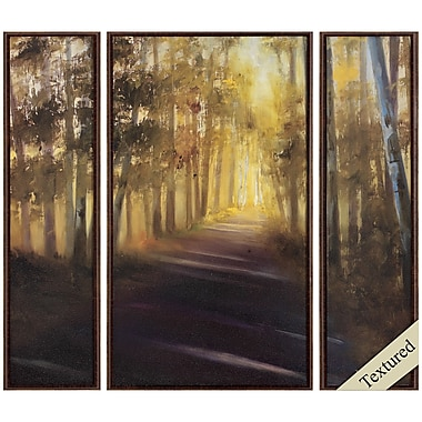 Propac Images Walk Away 3 Piece Framed Painting Print Set