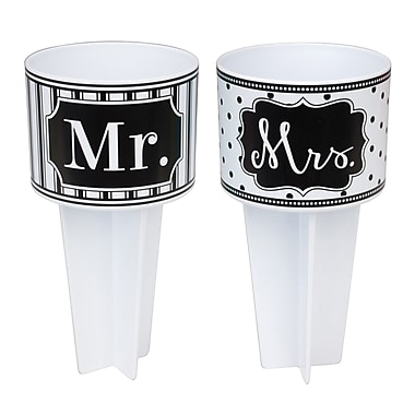 Occasionally Made Mr. & Mrs. Beach Buddy Drink Holders (Set of 2)