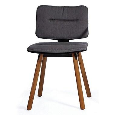 OASIQ CoCo Outdoor Sunbrella Dining Chair Cushion; Charcoal